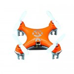 Haibei Cheerson Cx-10 Micro Drone 2.4GHz 4CH Giroscopio de 6 ejes Rc Quadcopter Airplane Super Mini UFO Drone RTF con luces LED (Orange)