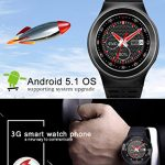 ZGPAX S99 Android V5.1 1.3 Inch MTK6580M Smart Watch Phone Support Gsm Sim-card With Camera, Bt Sync With All Android Cellphone (Black)