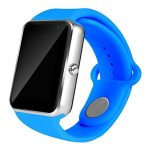 AIYIBEN U7 Bluetooth Touch pantalla Bluetooth 3.0 Smart watch muñeca reloj teléfono reloj Para iPhone Samsung Sony LG HTC y mucho más (Blue)