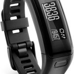 Garmin Vívosmart HR – pulsera de actividad con pulsómetro integrado Garmin Elevate, color negro, talla normal