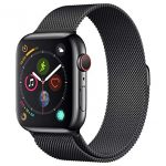 Apple Watch Series 4 (GPS + Cellular) con caja de 44 mm de acero inoxidable y pulsera Milanese Loop, ambas en negro espacial en oferta