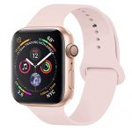 GIPENG para Correa Apple Watch 38MM 40MM, Suave Silicona iWatch Correa, para Series 3, Series 2, Series 1, Nike+, Edition, Hermes (Rosa Arena, 38MM-SM)