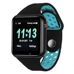 JDTECK ALCATEL One Touch Idol X Watch Connected, Smartwatch TF (Micro SD), Transmisor Bluetooth, Touch Smart, Tracker Fitness Impermeable Compatible con su ALCATEL One Touch Idol X